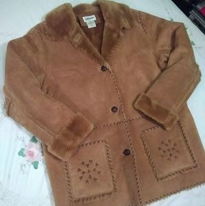 bagatelle XL Leather Coat with faux lining